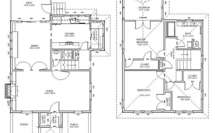 American Four Square Style House Plan Eurohouse