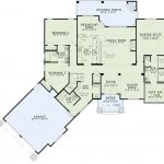 Angled Garage One Story House Plans