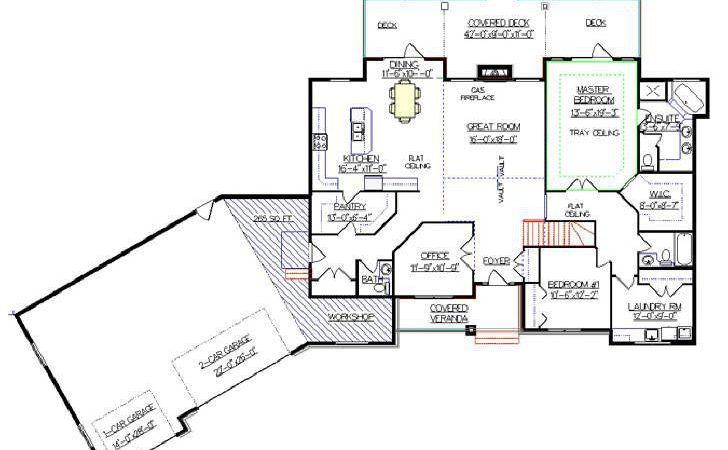 Angled Ranch Style House Plans Pinterest