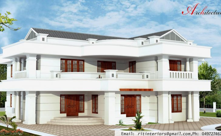 Architecture Kerala Bedroom Large House Plans