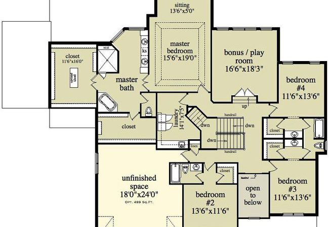 Awesome House Plans Two Story Floor
