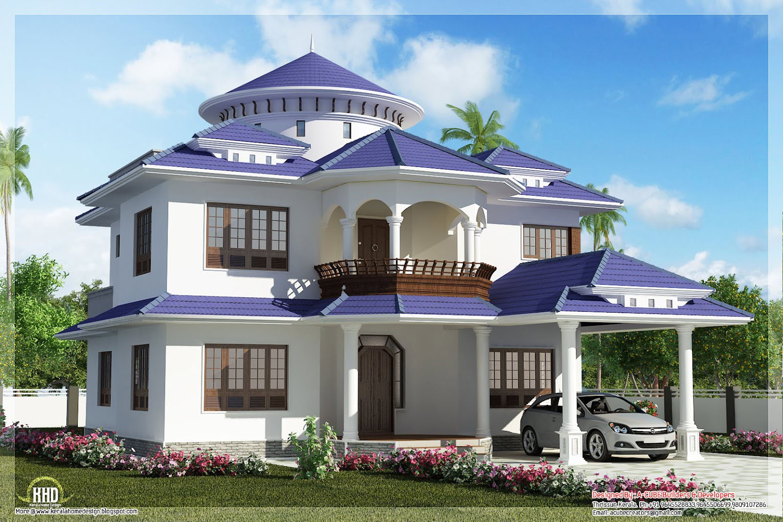 Beautiful Dream Home Design Feet Kerala House