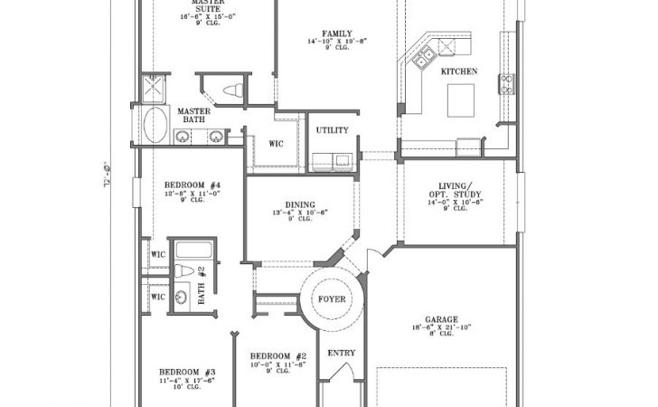 Bedroom House Plans One Story Gurawood