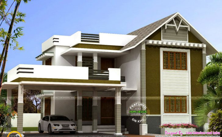 Bedroom Mixed Roof Kerala House Home Design