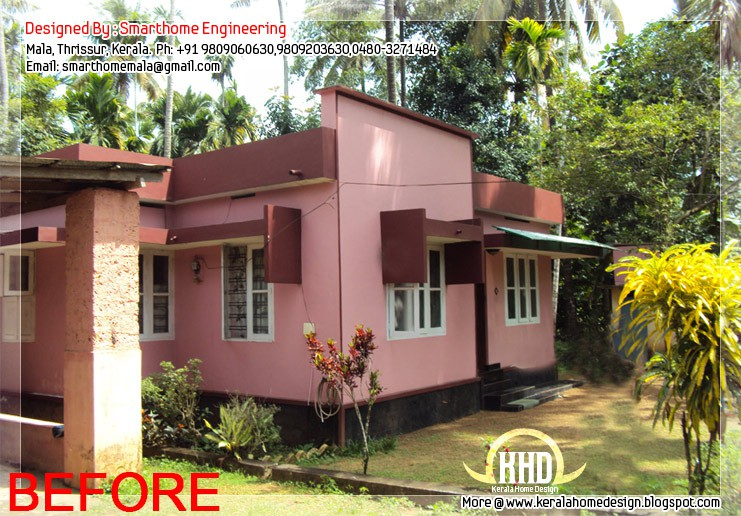 Before After Modification Existing House Kerala