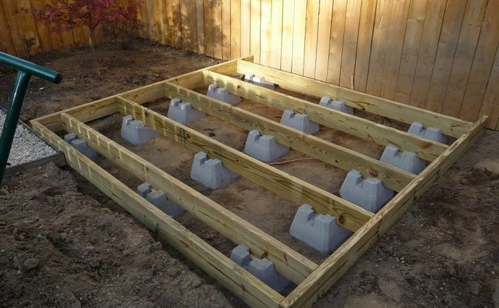 Build Shed Using Deck Blocks Picnic Table Plans
