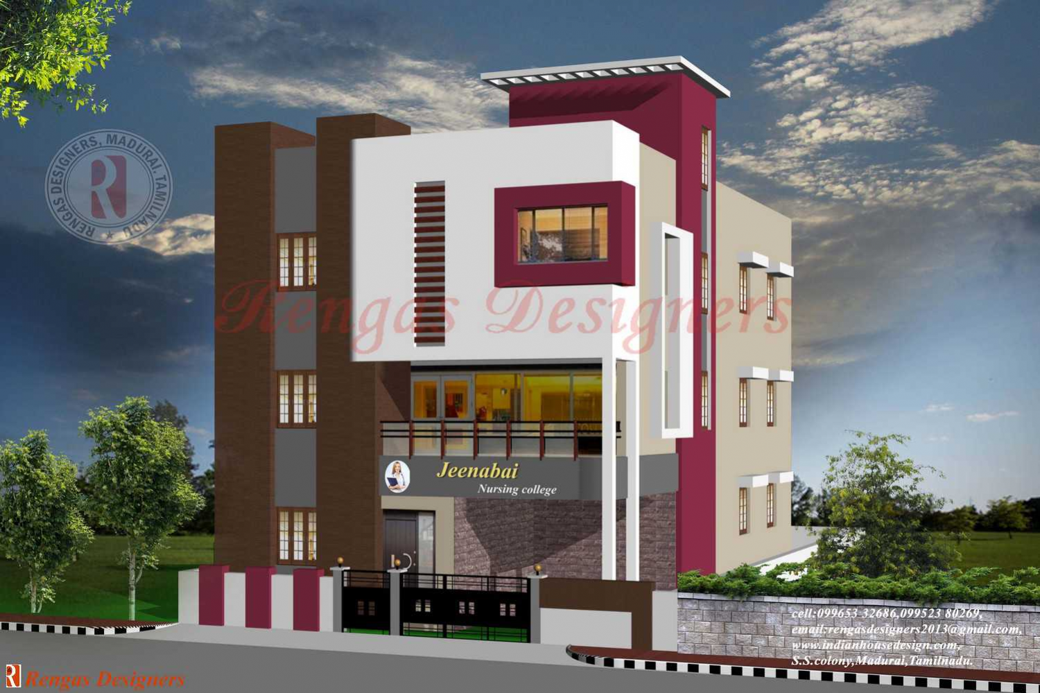 Building Front Elevation Designs Commercial Home