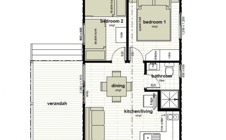 Cabin Floor Plans Oxley Anchorage Caravan Park