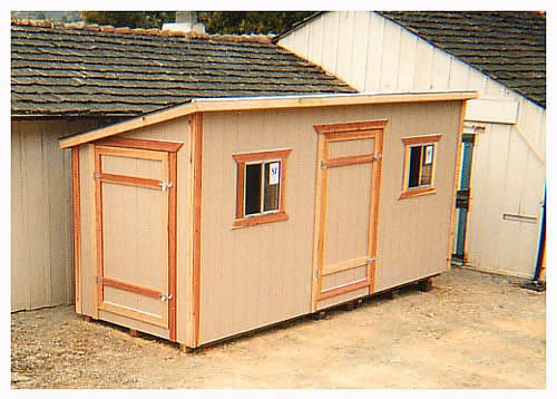 California Custom Sheds Shed Roof