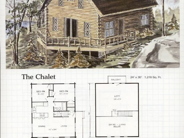 Chalet Building Plans Over House