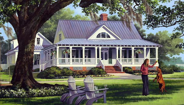 Cottage Country Farmhouse Traditional House Plan
