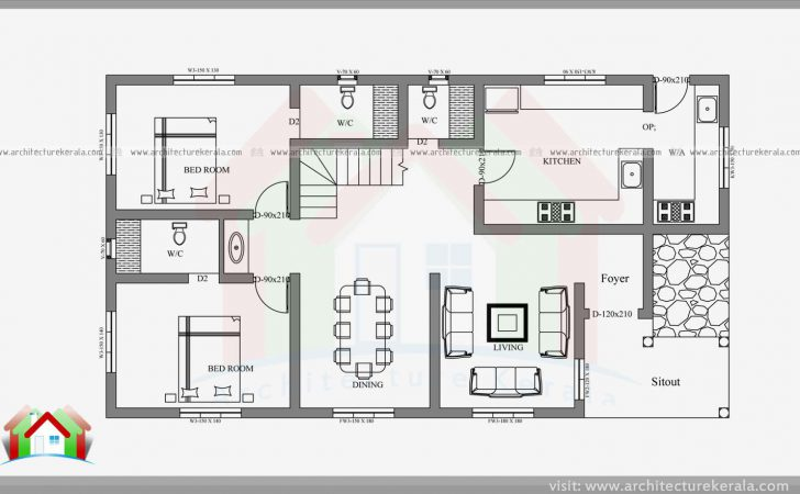 Double Storied Four Bedroom House Plan Elevation