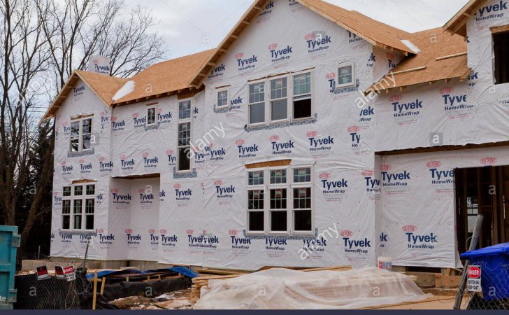 Dupont Tyvek House Wrap Applied New Home Construction