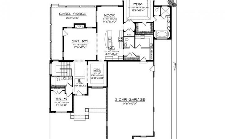 Empty Nester Home Plans Traditional House