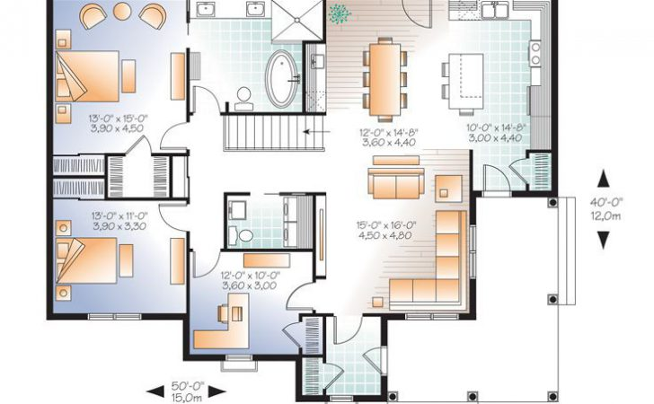 Empty Nester House Plans Country Traditional