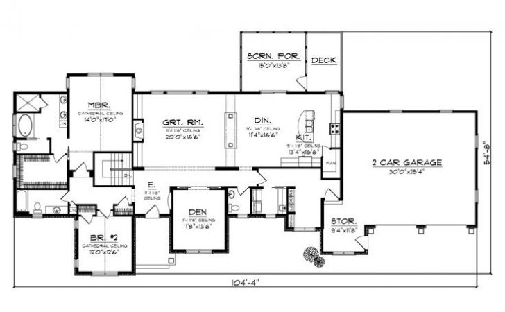 Empty Nester House Plans Ranch Home Plan