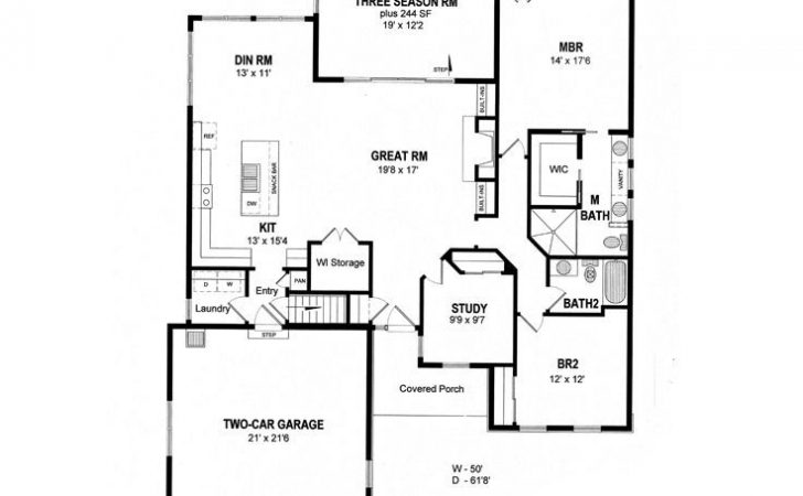 Empty Nester House Plans Small Traditional