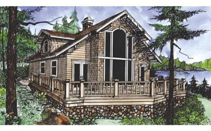 Eplans Chalet House Plan Two Bedroom