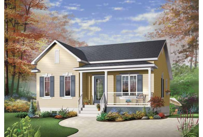 Eplans Country House Plan Simple One Story Bungalow