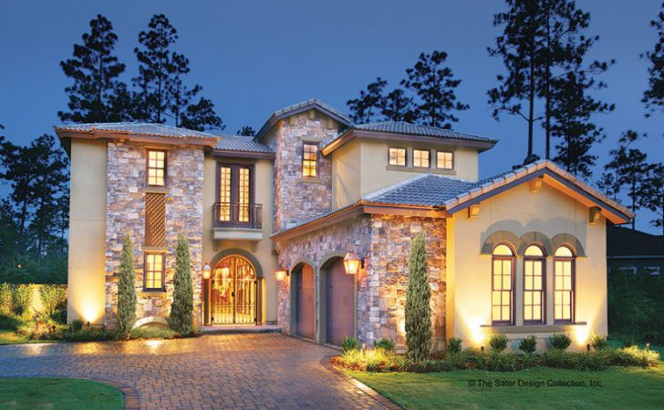 Eplans Mediterranean House Plan Courtyard Luxury