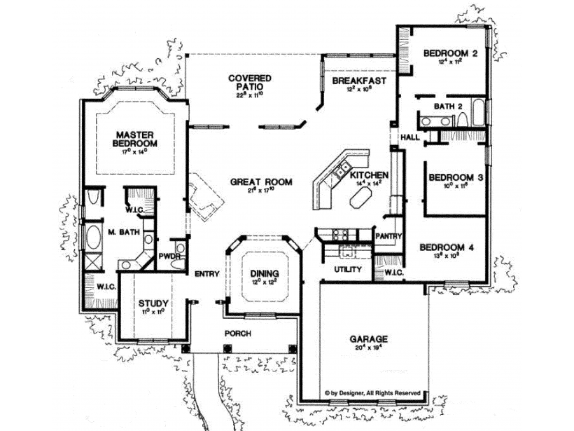 Eplans New American House Plan Four Bedroom