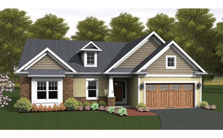 Eplans Ranch House Plan Craftsman Accented