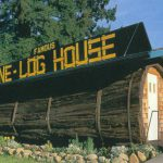 Famous House Carved Out Giant Redwood Log