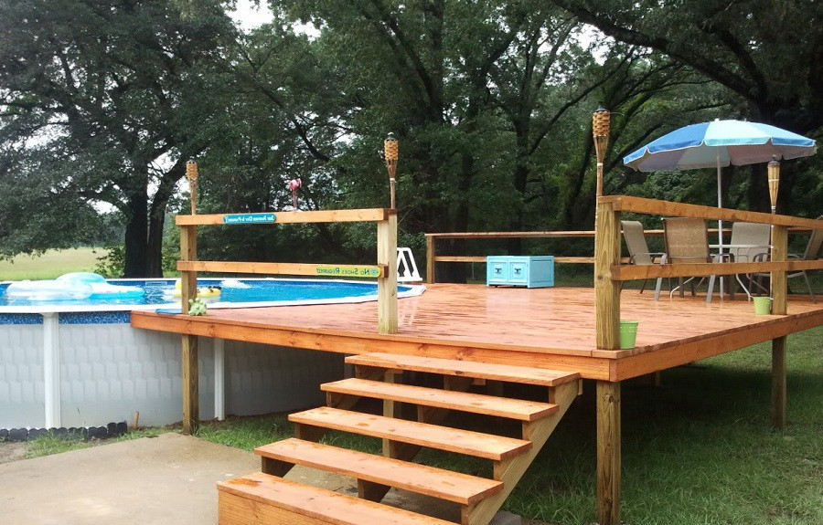 Foot Above Ground Pool Deck Plans