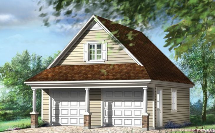 Garage Plans Loft Country Style Car Plan