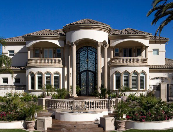 Grand Mediterranean Estate Exterior