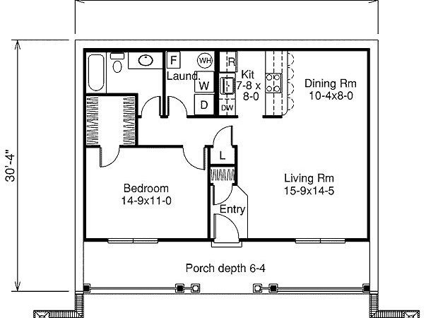High One Bedroom Home Plans House