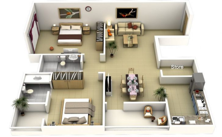 Home Design Bedroom Apartment House Plans