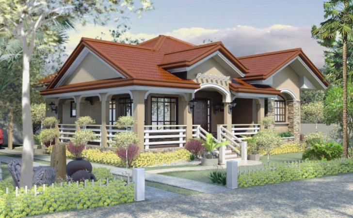Home Design One Story House Plan Bungalow