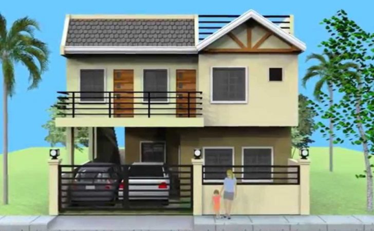 Home Design Small Storey House Roofdeck Story