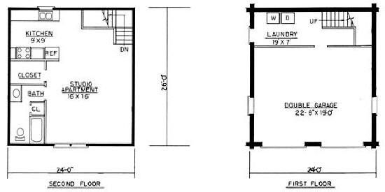 Home Plans Garage Mother Law Apartment