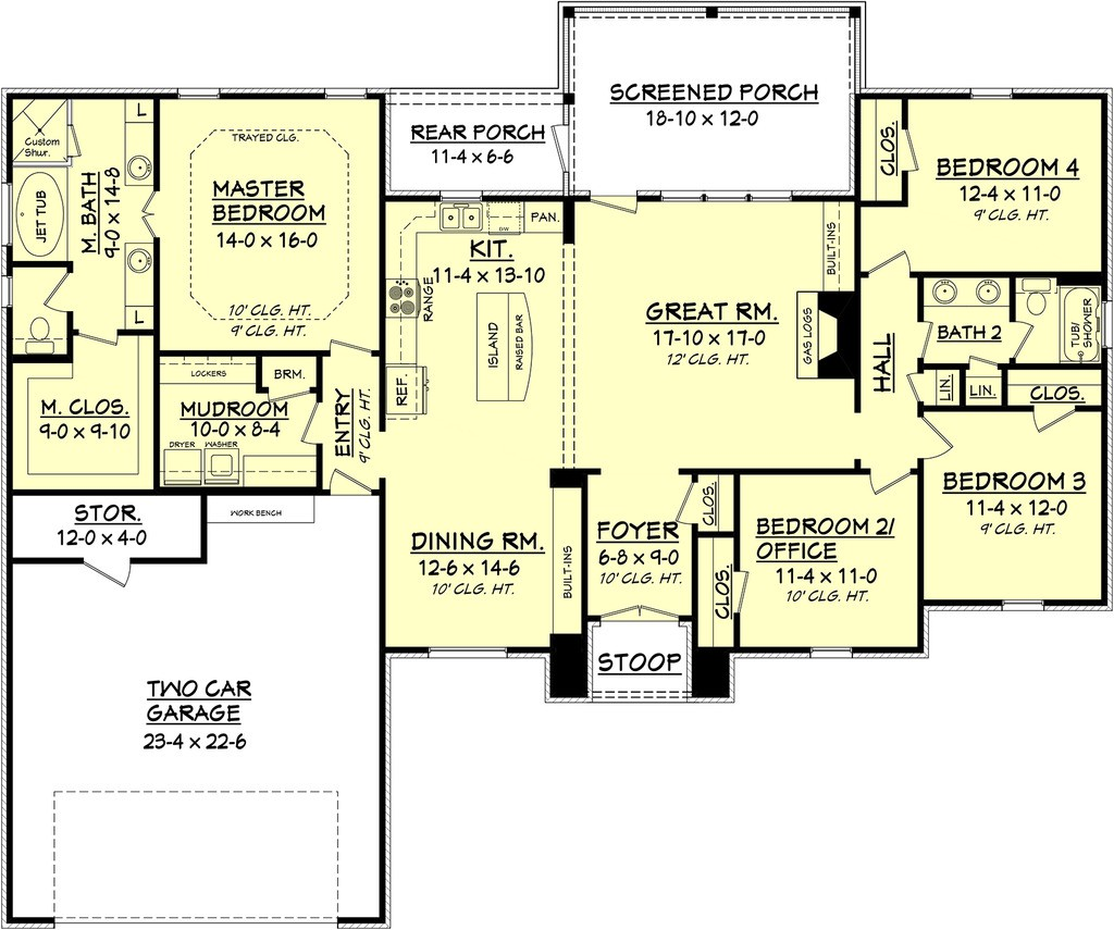 House Design Square Feet Traditional