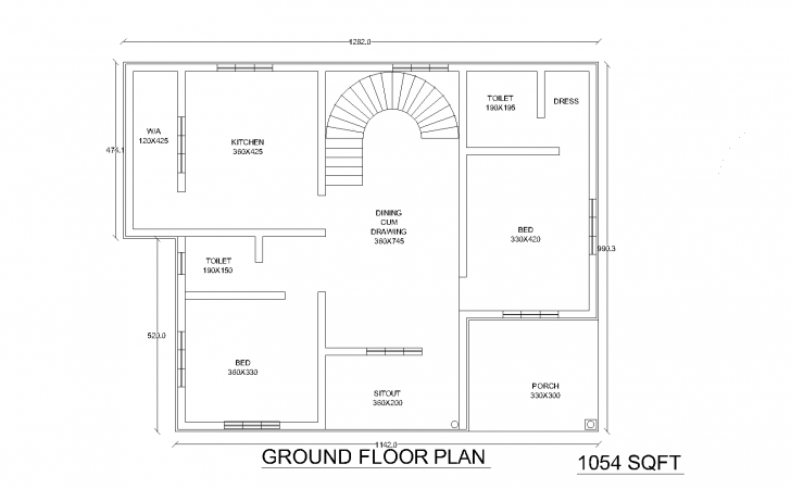 Itu Two Bedroom House Plans Kerala
