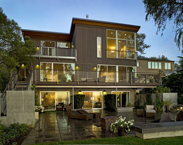 Lakefront Living Contemporary Exterior Seattle