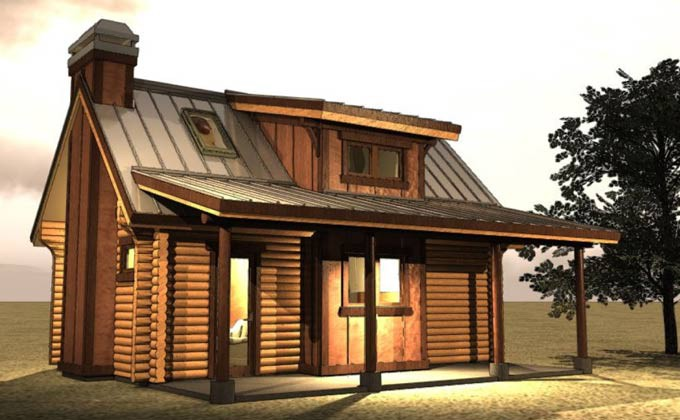 Log Cabin Small Floor Plans Cottage
