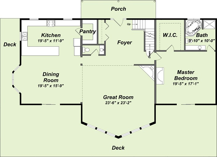 Log Home Floor Plans Mountain Creations Homes