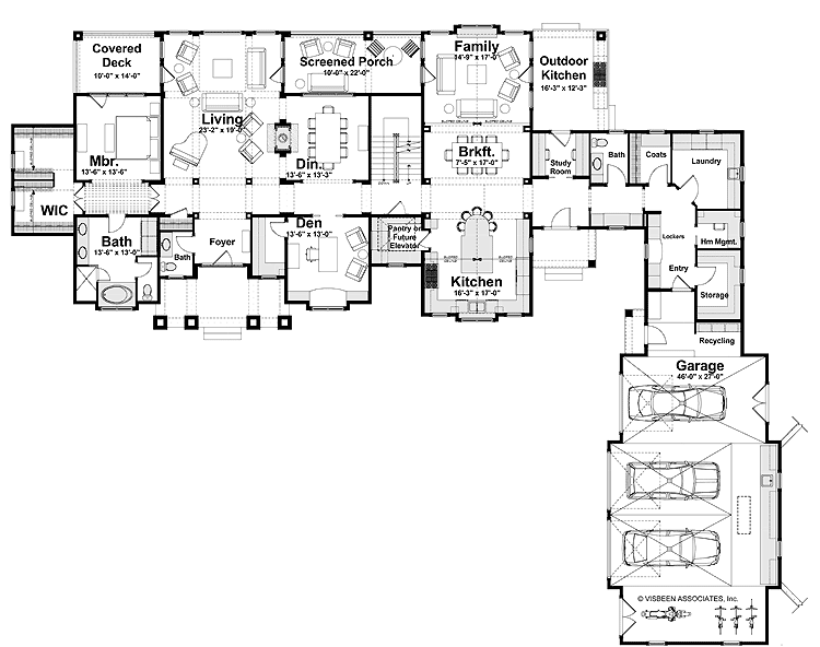 Lovely Shaped House Plans