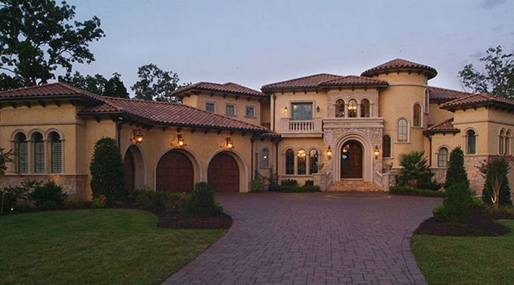Mediterranean Style Stucco Homes Blue Collar