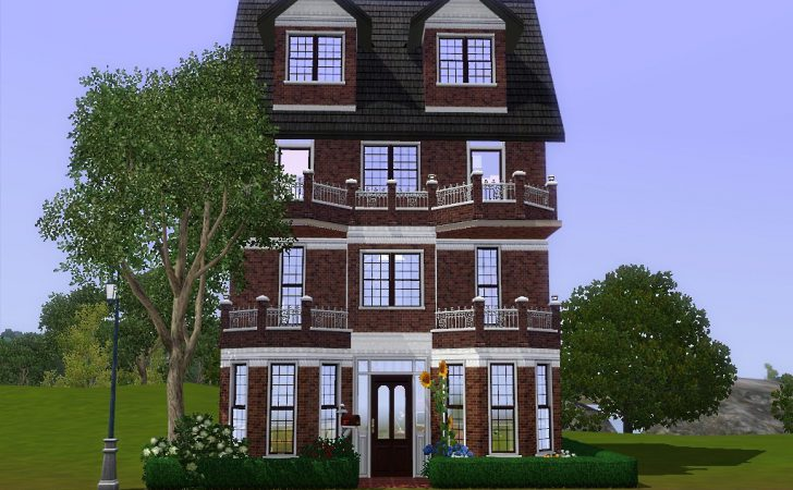 Mod Sims Comfy Townhouse Three Story House
