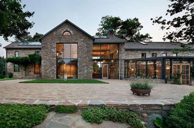 Modern Redesign Old Country Home Antique Stone