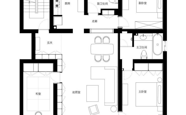 Modern Shanghai House Floor Plan Interior Design Ideas
