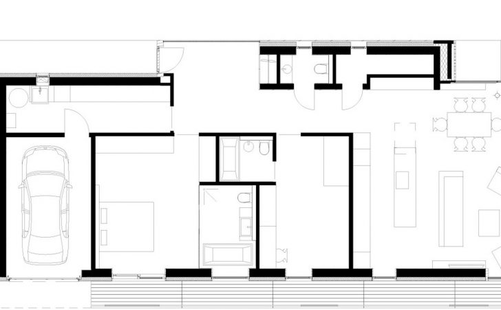 Modern Two Bedrooms House Concrete Rectangular