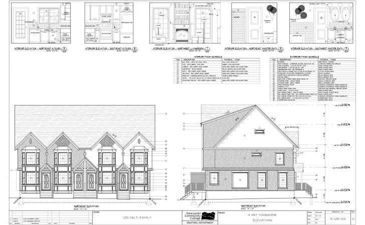 Multi Residential Town House Plans