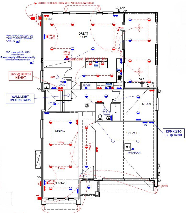 New Lindfield House Electrical Plan