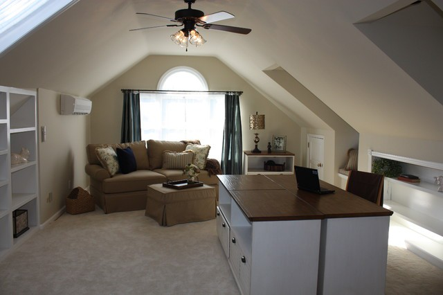 New Office Retreat Attic Space Over Garage