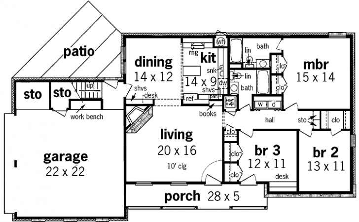 New Simple One Story House Floor Plan